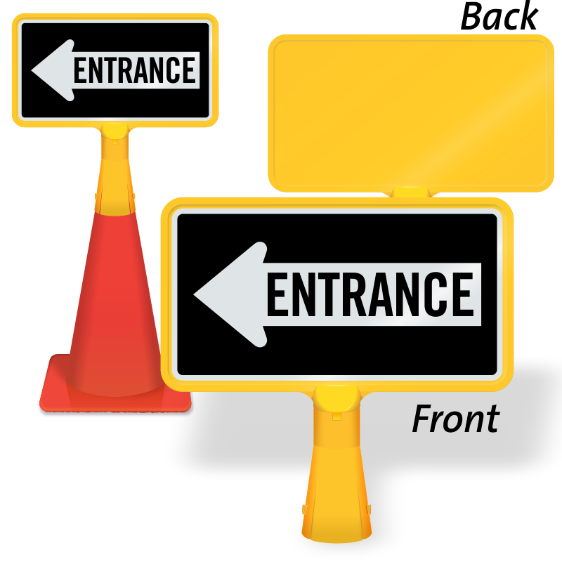 Entrance signs garage zoom. Parking lot clipart two wheeler