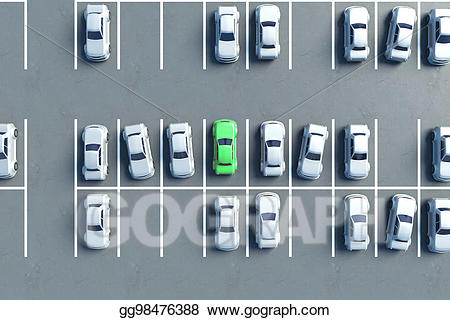 Stock illustration aerial view. Parking lot clipart vacant lot