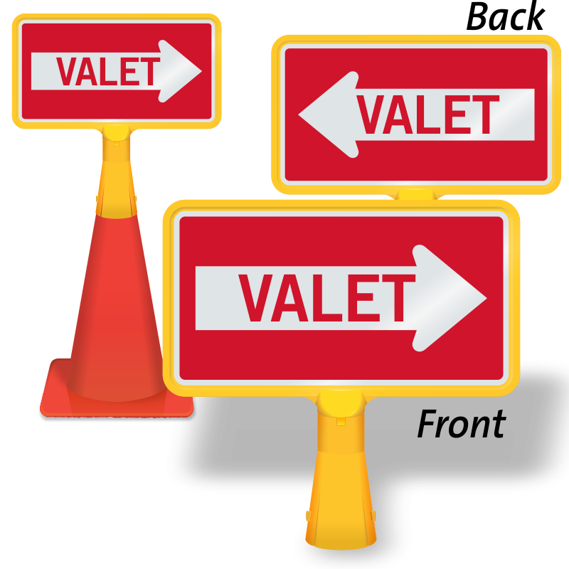 Parking lot clipart valet parking. Coneboss sign sku cb