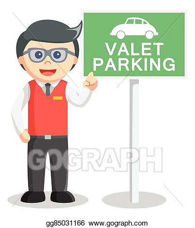 Vector art illustration eps. Parking lot clipart valet parking