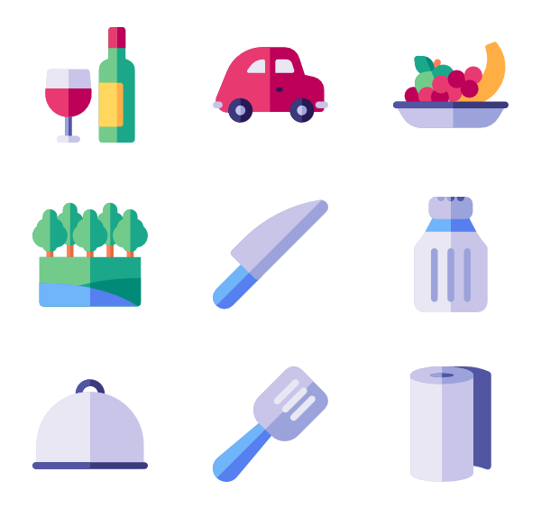 Area icons free picnic. Parking lot clipart vector