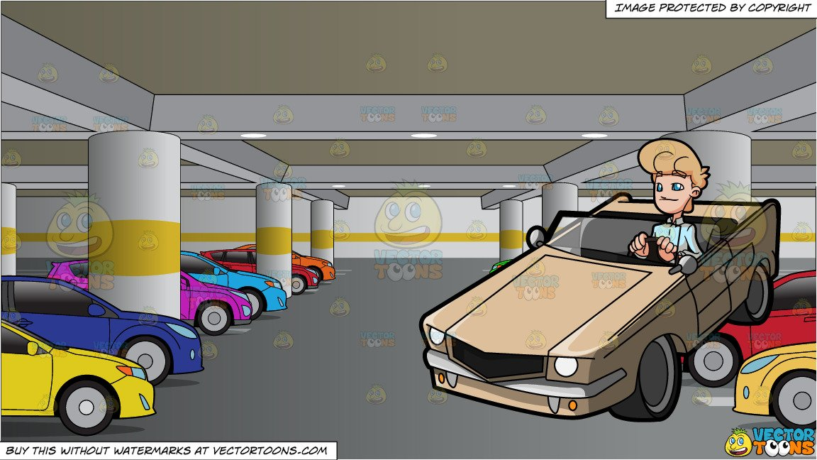 A man driving sexy. Parking lot clipart vehicle parking