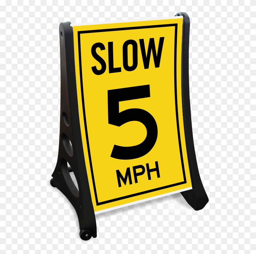Parking lot clipart yellow. Speed mph sidewalk sign