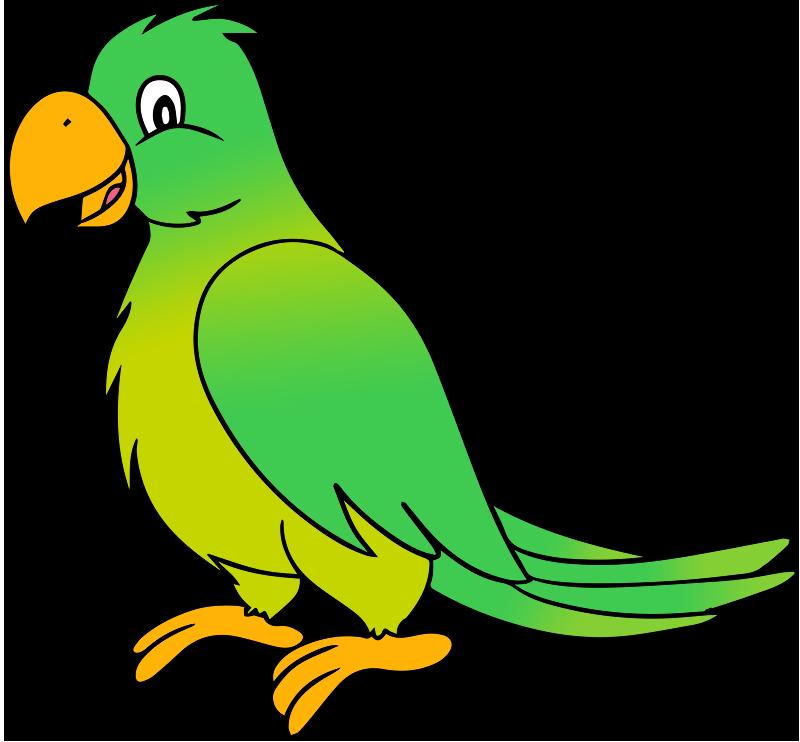 Green . Parrot clipart