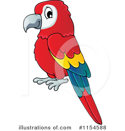 Parrot clipart. Illustration by visekart royaltyfree