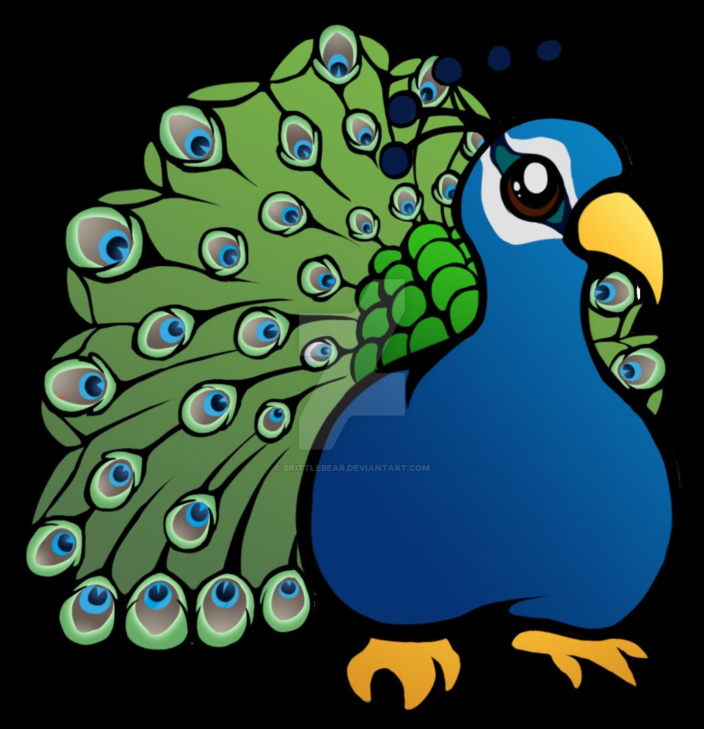 Cute peacock by brittlebear. Parrot clipart chibi