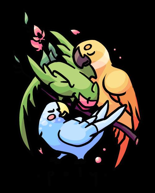 Parrot clipart green cheek conure. Stickers tumblr