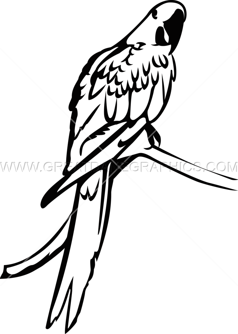 Blue production ready artwork. Parrot clipart hyacinth macaw