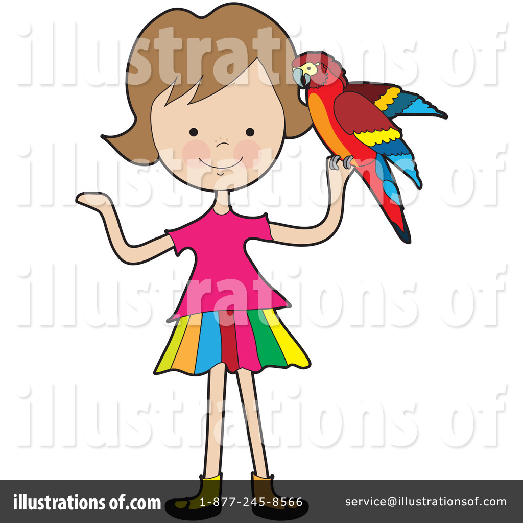 Illustration by maria bell. Parrot clipart kid
