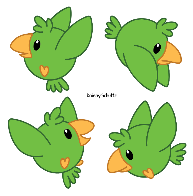 Parrot clipart little green. By daieny on deviantart
