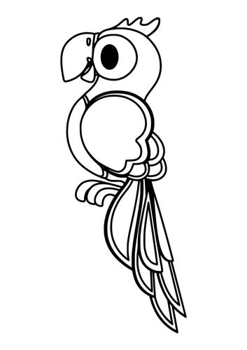 Parrot clipart nuri.  black and white