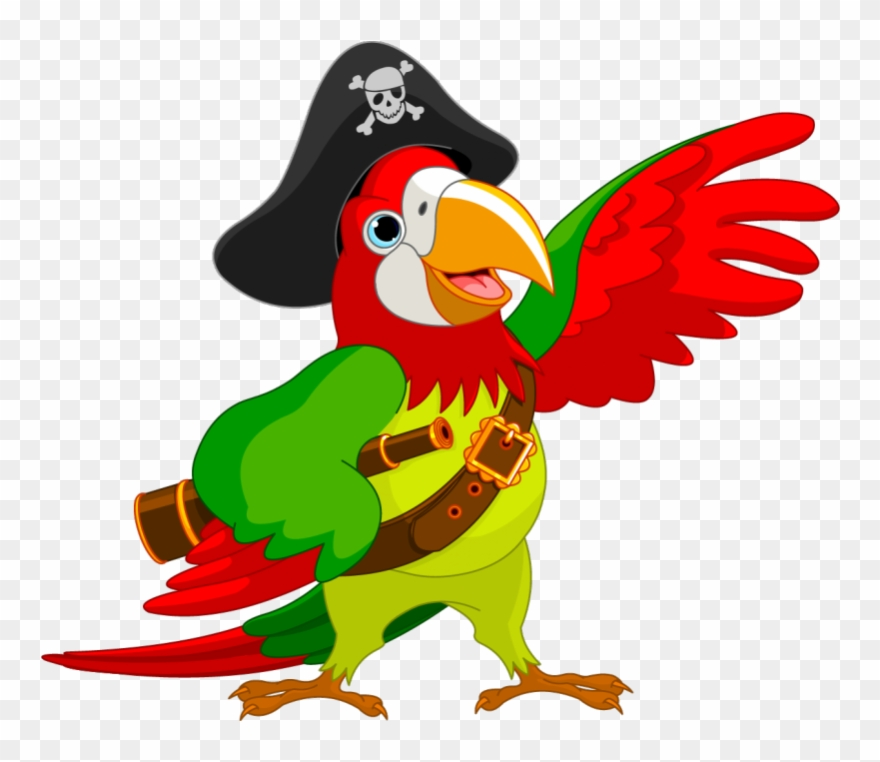 Pirate piracy jack sparrow. Parrot clipart public domain