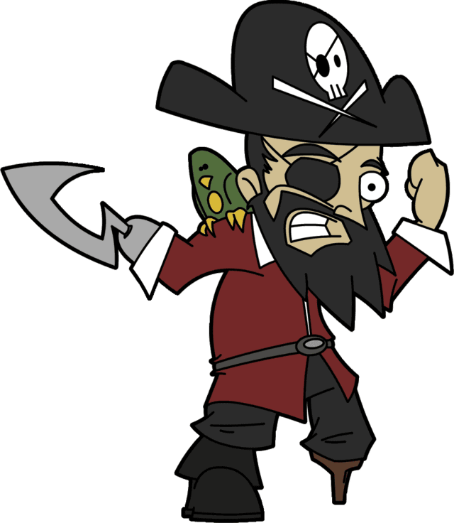 Talk like a pirate. Pirates clipart character