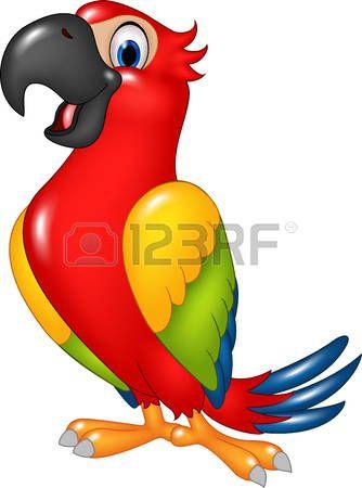 Parrot clipart wild bird. Stock vector beachy boho