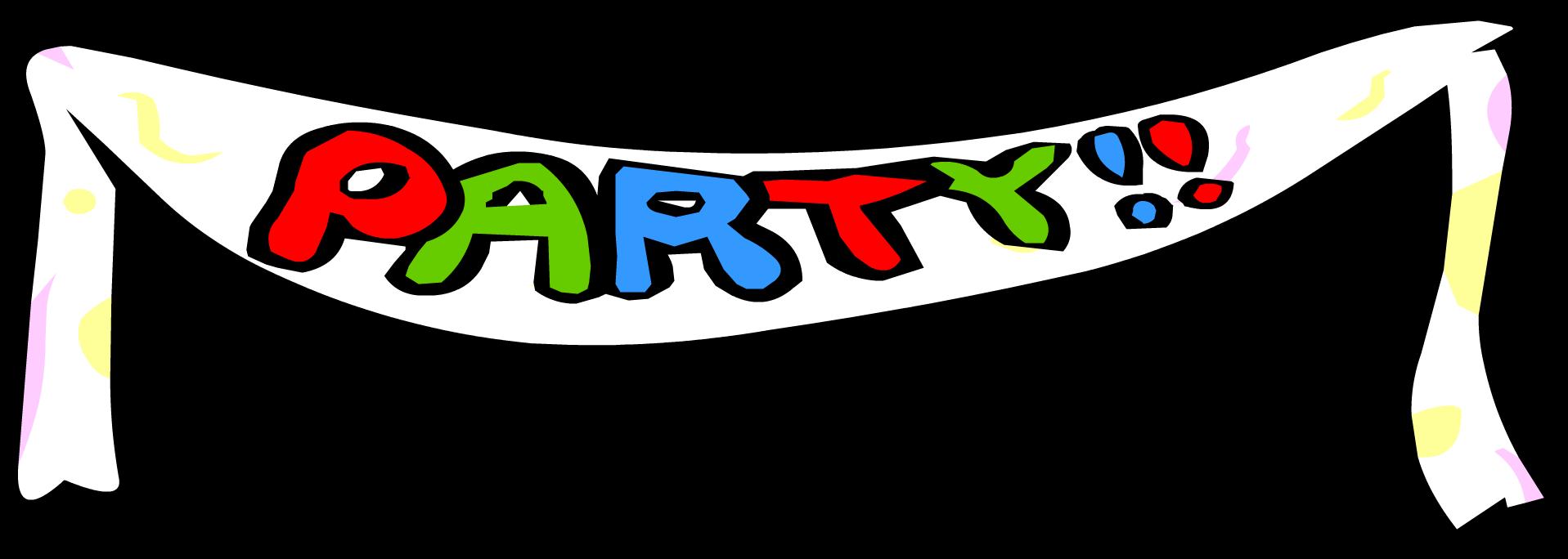 Party clipart party banner. Club penguin wiki fandom