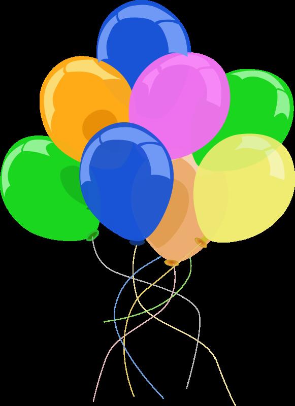 Luftballons medium image png. Streamers clipart decorating