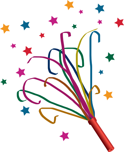 Free favor pictures download. Streamers clipart party horn