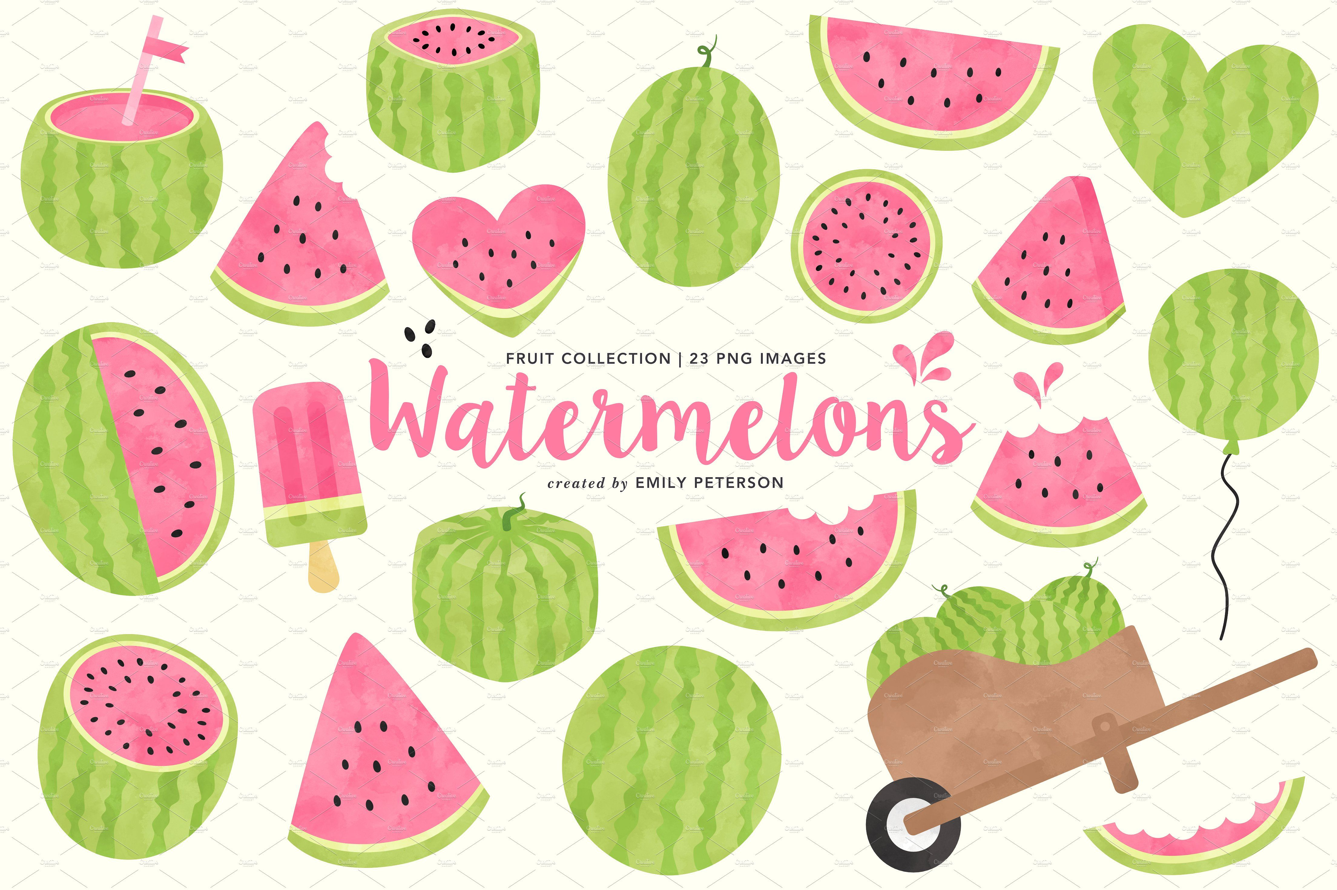 Watermelon clipart party. Watermelons graphic designs for