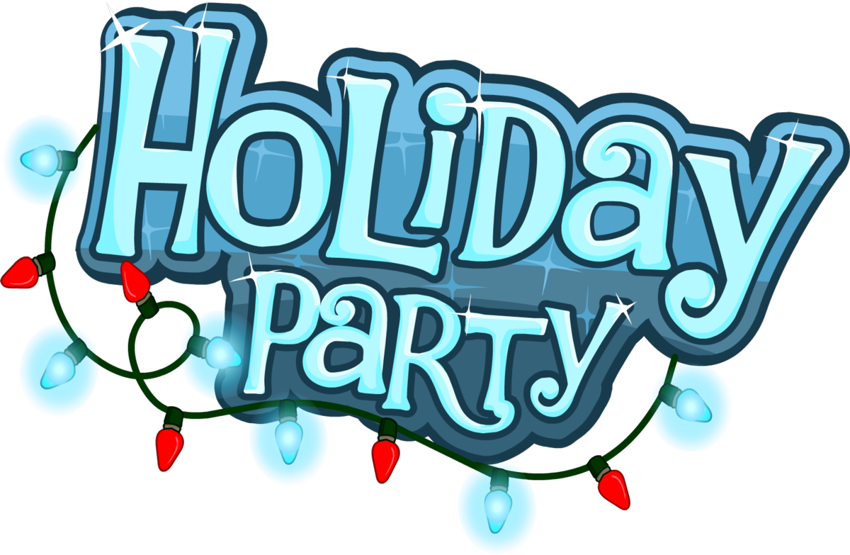 Holiday celebration time clip. Party clipart winter