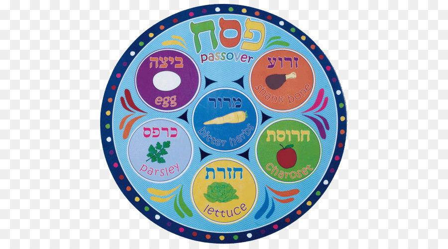 Child cartoon paper plate. Passover clipart round