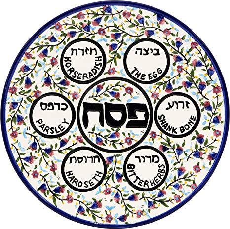 Ceramic multi color armenian. Passover clipart round