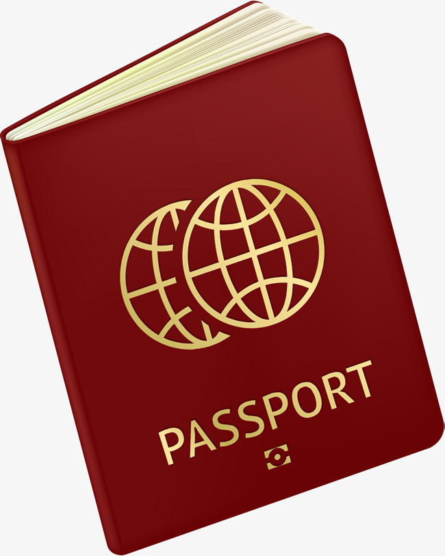 Passport clipart. Red simple png image