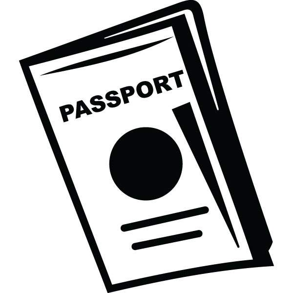 Passport clipart. Bright ideas and travel