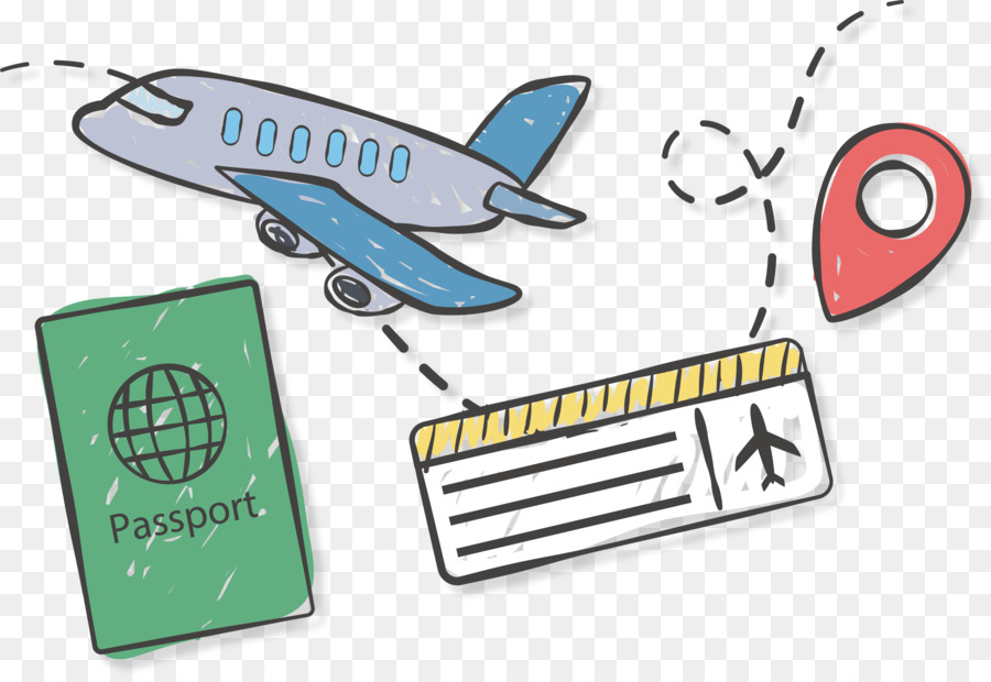 Airplane logo . Traveling clipart plane ticket