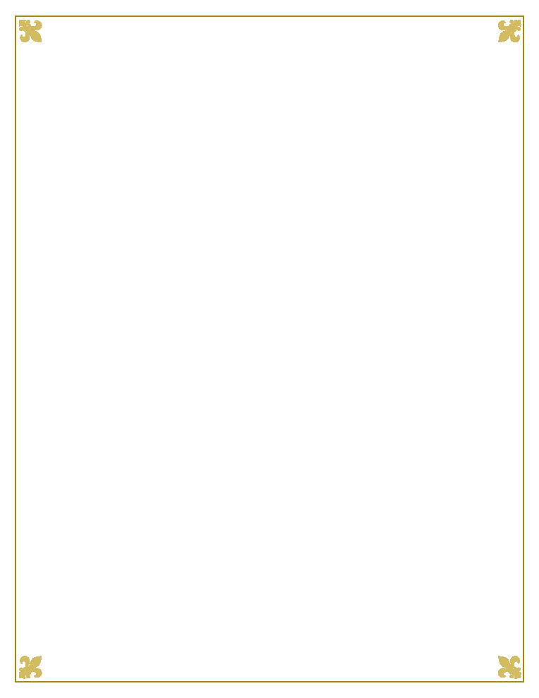 Gold png fleur de. Playdough clipart border