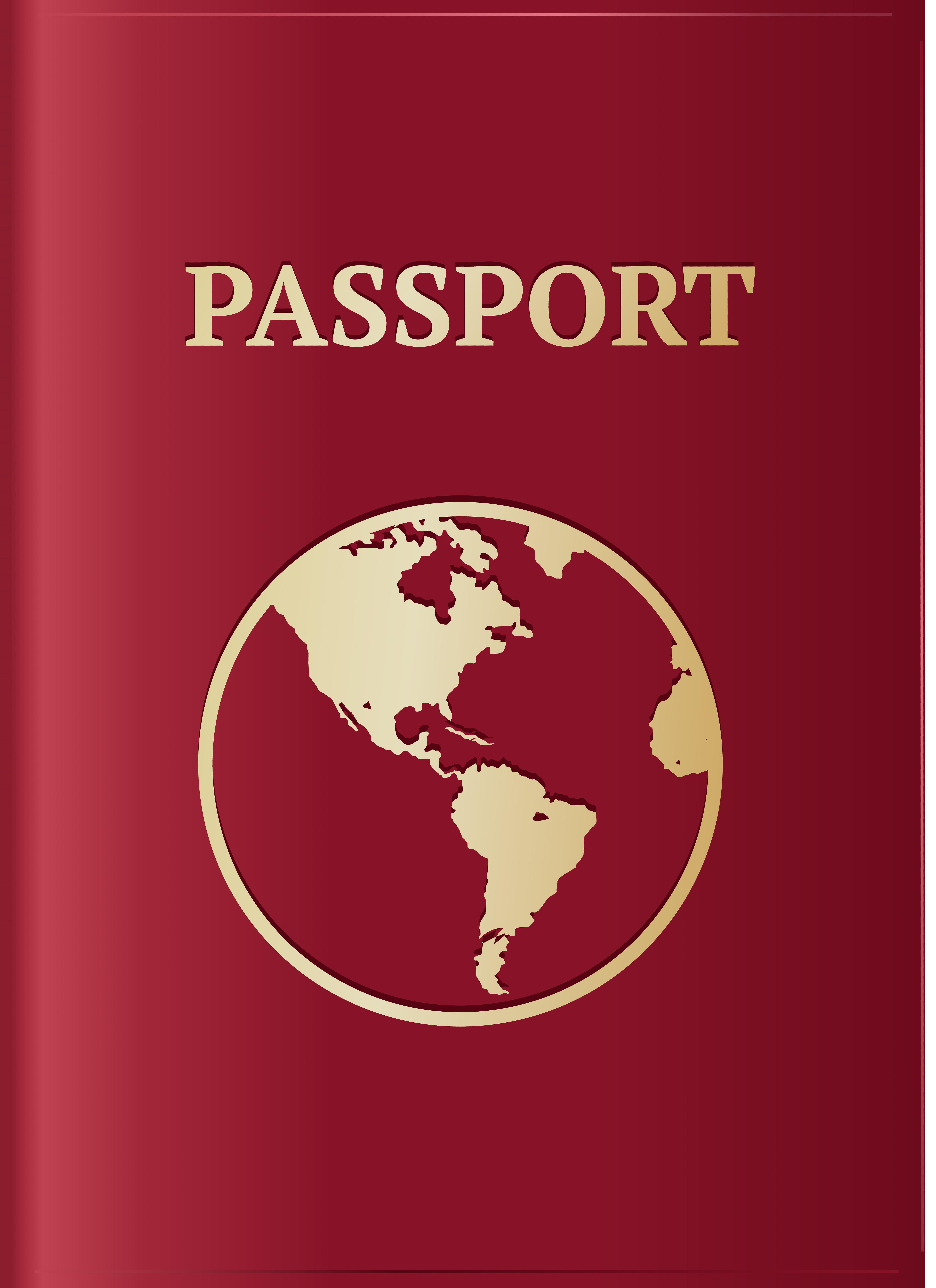Passport clipart passport book. Red transparent png image