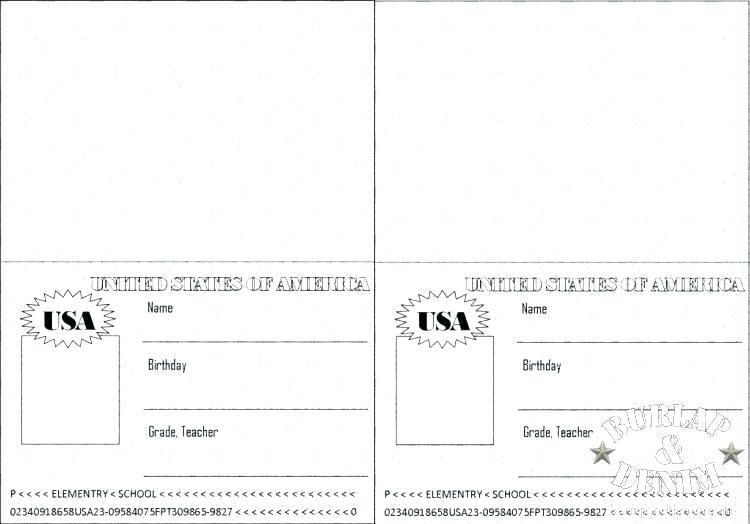 Coloring waterfallsmala info . Passport clipart passport page