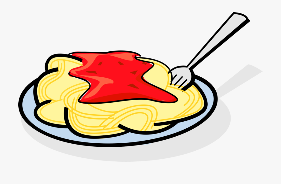 Food clipart spaghetti. Plate of transparent background