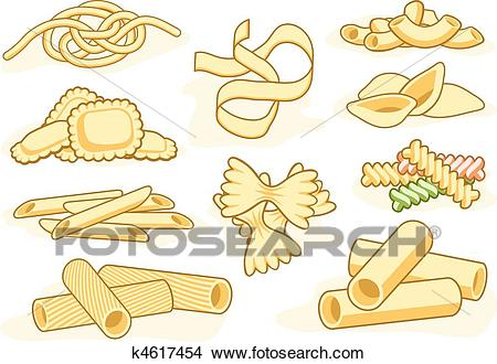 Of shape icons k. Pasta clipart