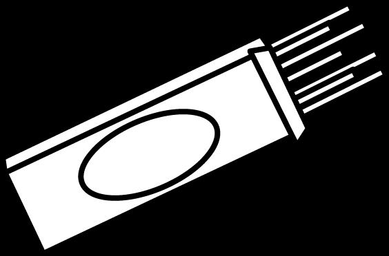 Black and white box. Pasta clipart