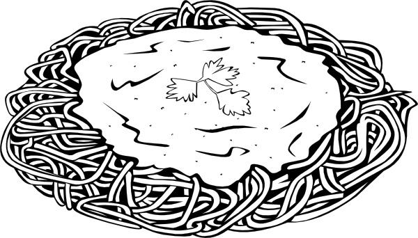 Pasta clipart art design. Spaghetti and sauce clip