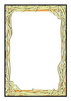 A page borders sb. Spaghetti clipart border