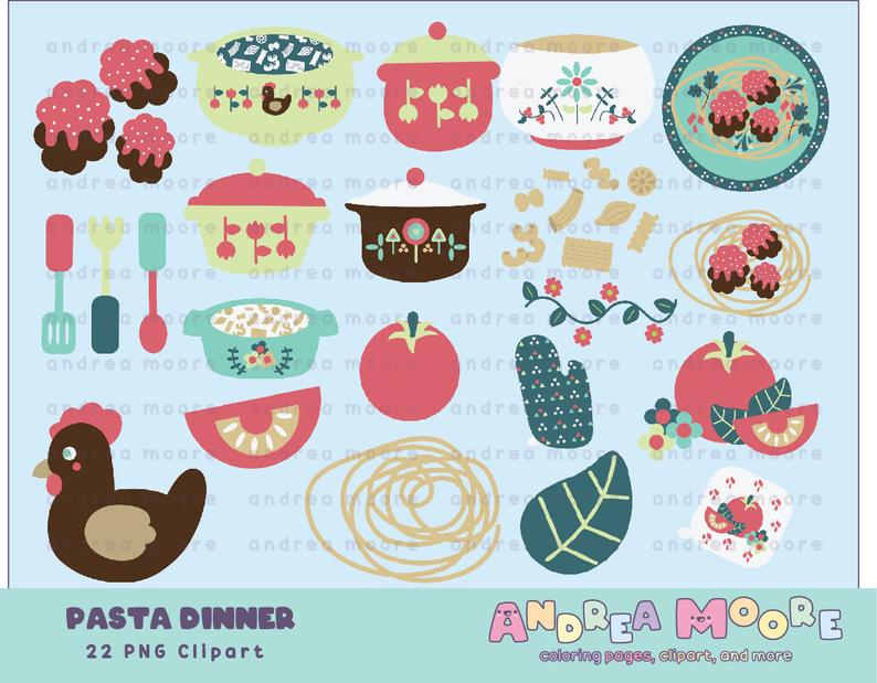 Pasta clipart commercial. Dinner and personal use