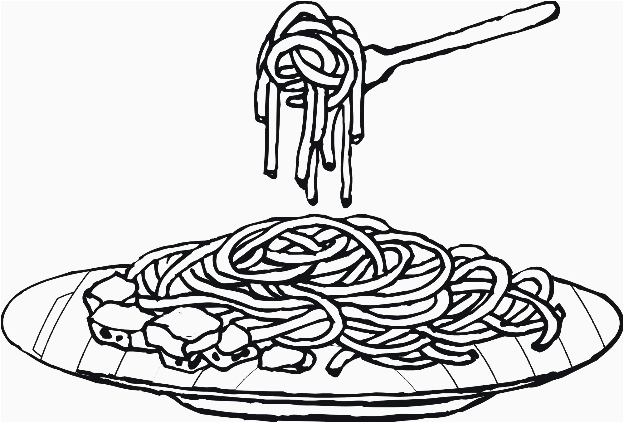 Pasta clipart draw. Spaghetti drawing at paintingvalley