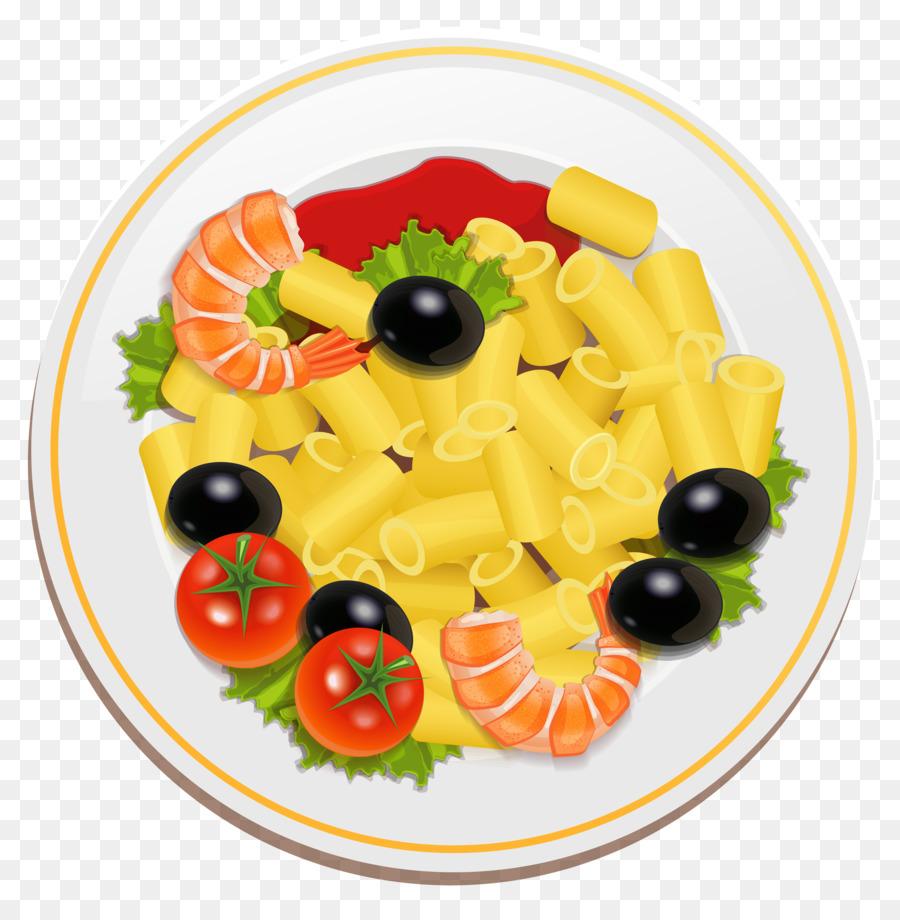 Vegetable cartoon pasta salad. Spaghetti clipart full plate food