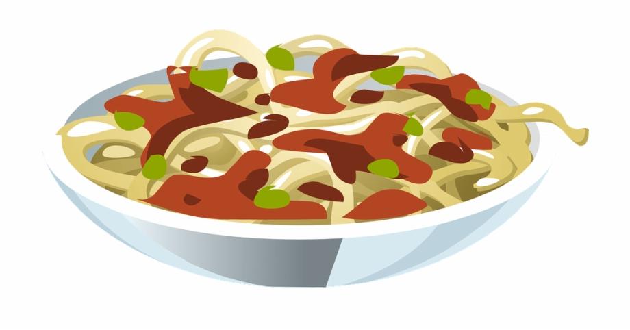 Pasta clipart pasta bake. Plate of spaghetti clip