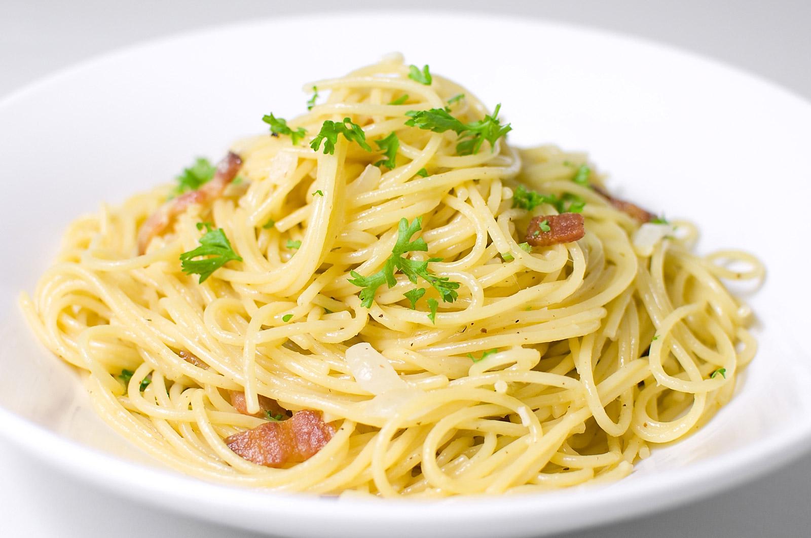 Pasta clipart pasta carbonara. Spaghetti recipes squared