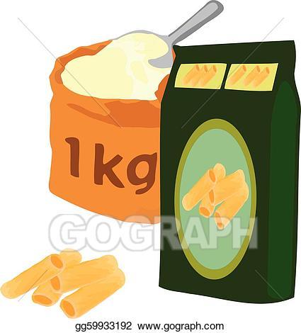 Pasta clipart pasta packet. Vector of illustration