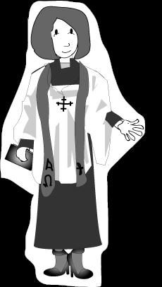 Female . Pastor clipart