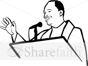 African american church people. Pastor clipart
