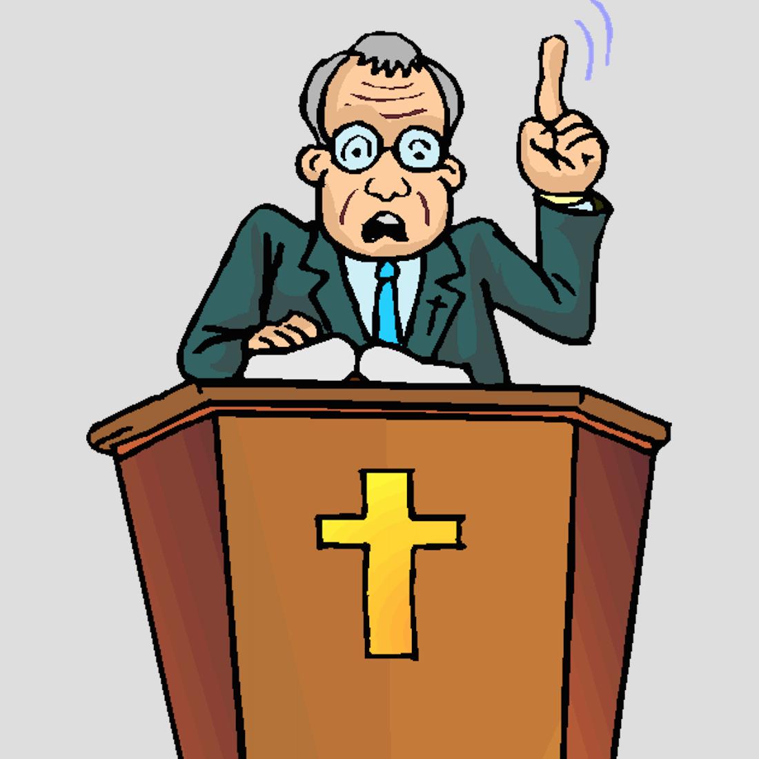 Preacher cliparts making the. Pastor clipart aggressive person