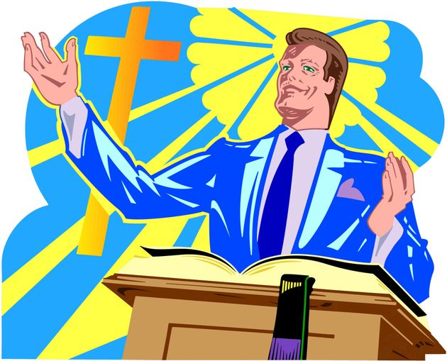 The problem with preaching. Pastor clipart bad person