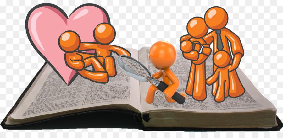 Illustration bible orange . Pastor clipart family get together