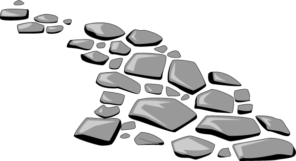 Path . Clipart rock stepping stone