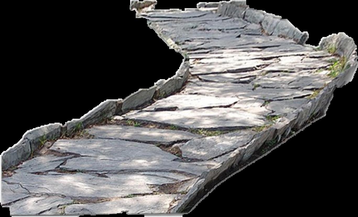 Path stone road sticker. Pathway clipart cobblestone pathway