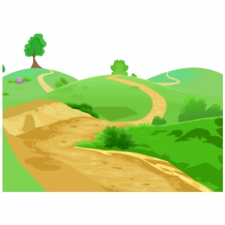 Pathway clipart logo. Dirt road cobblestone path